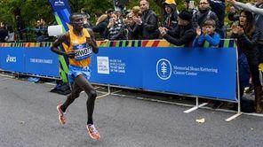 Stanley Biwott of Kenya leads the New York