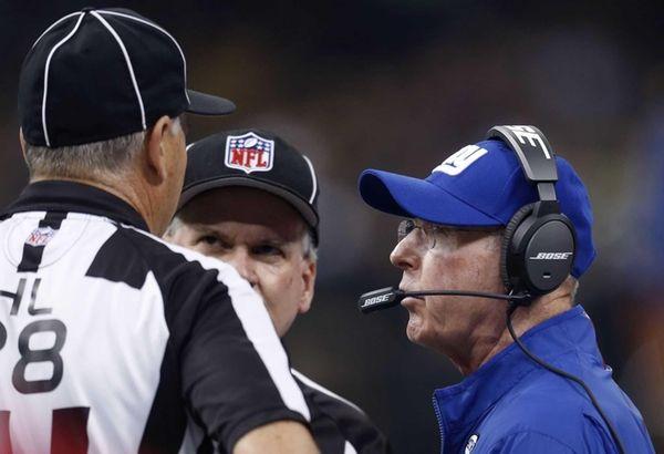 New York Giants head coach Tom Coughlin talks
