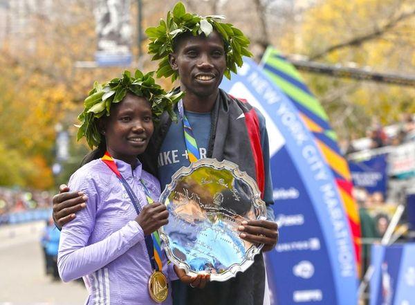 New York City marathon winners Mary Keitany and