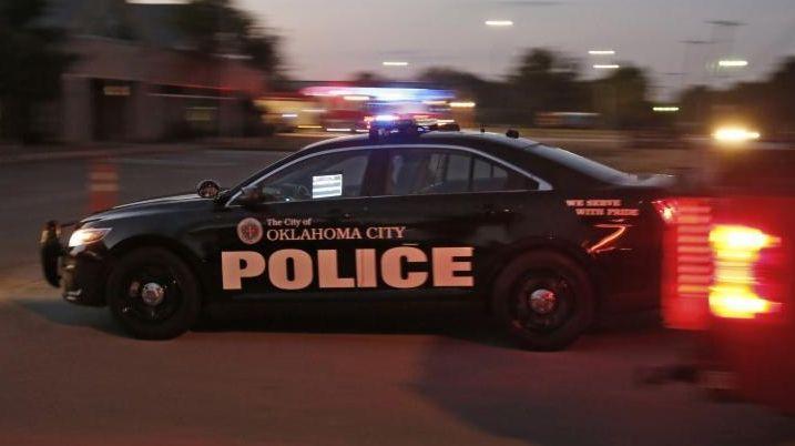 A police car drives into the Springlake Police