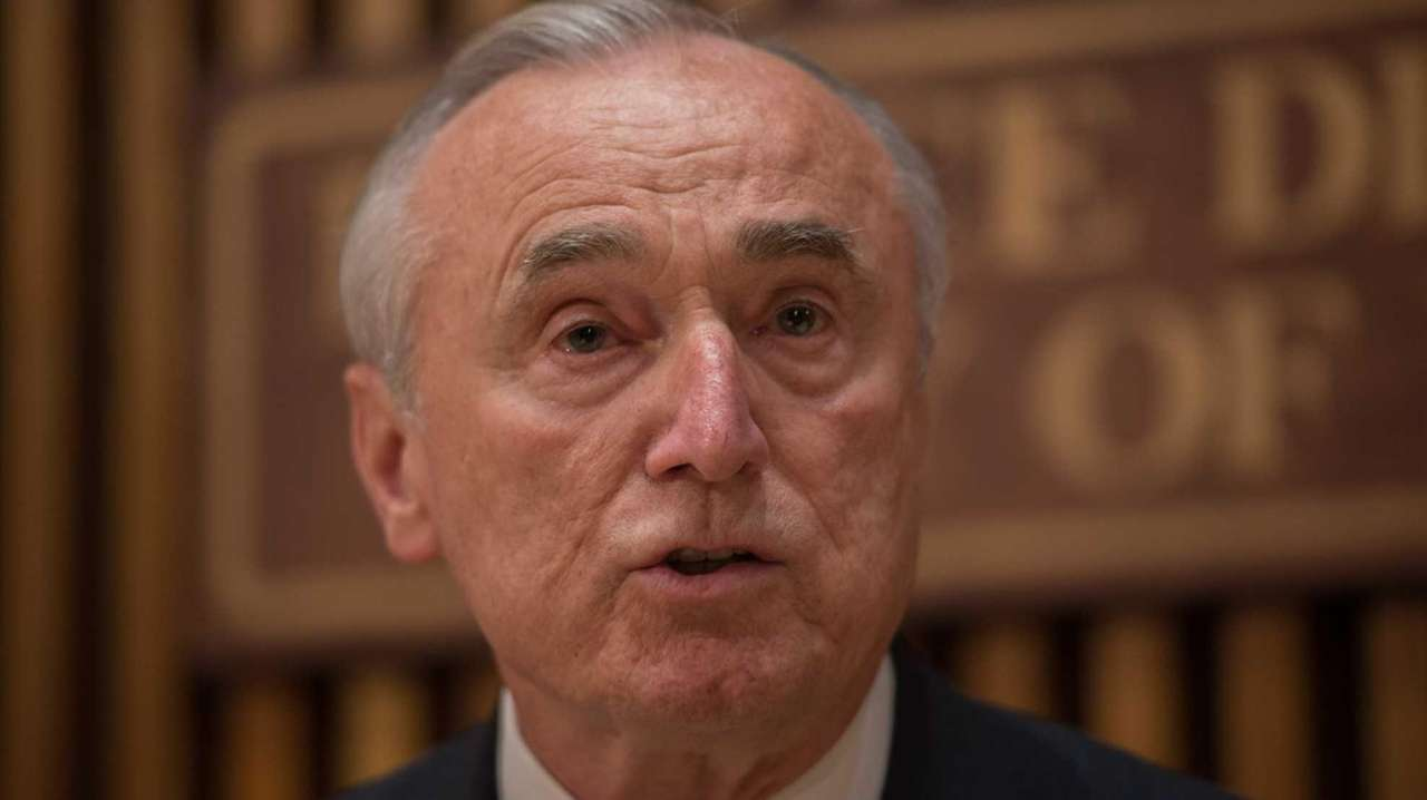 NYPD Commissioner William Bratton speaks on Wednesday, Oct.