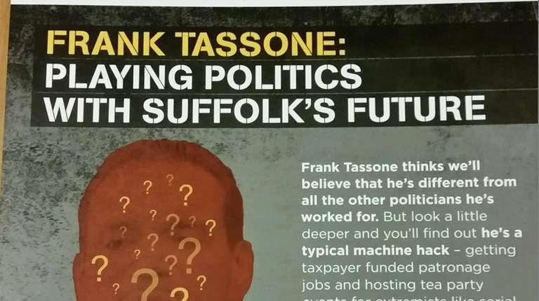The wrong Frank Tassone was pictured on mailings