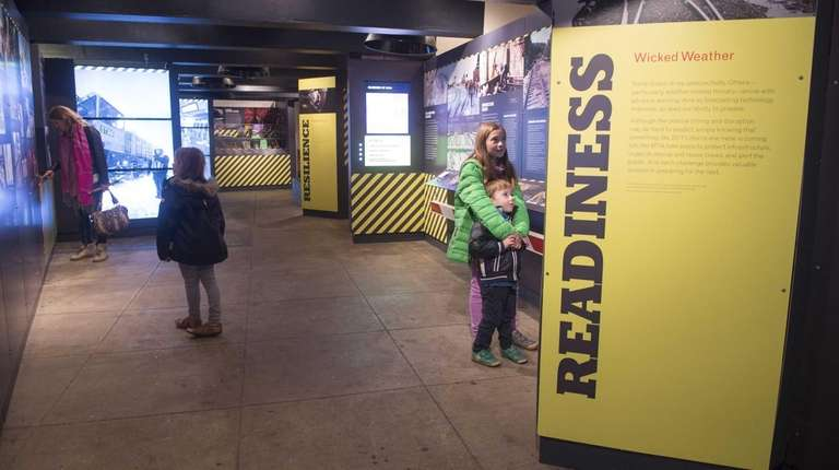 Visitors at the New York Transit Museum in