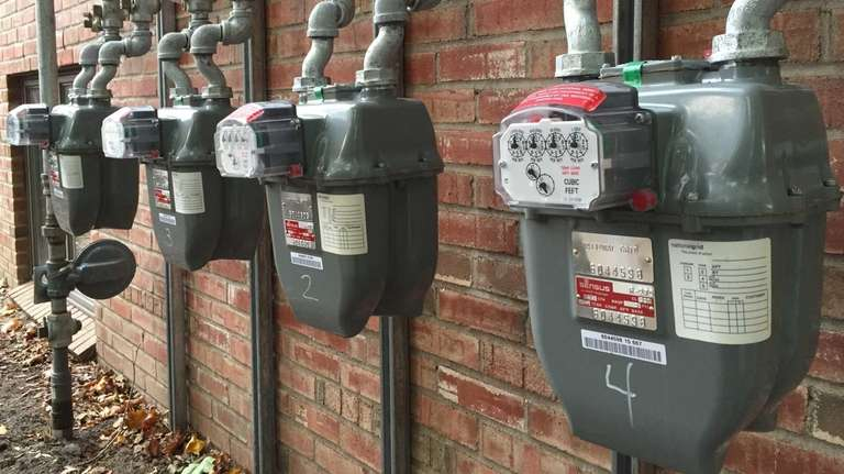 Commercial gas meters operated by National Grid, like