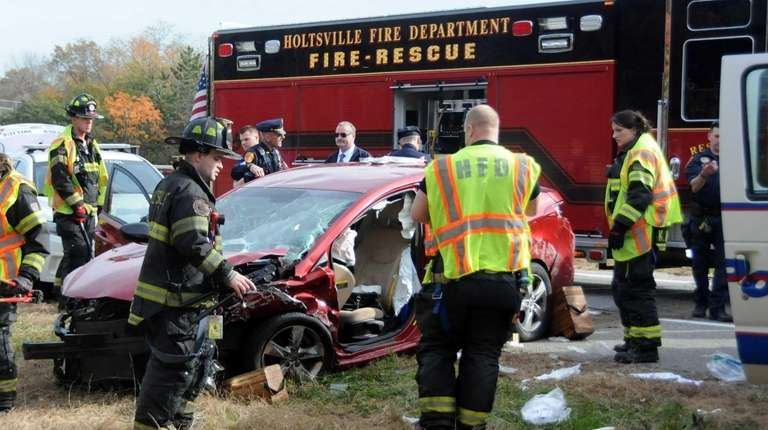 A one-vehicle crash with that left a woman