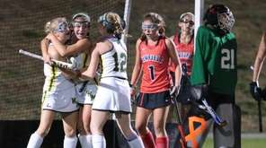 Lexi Reinhardt #9 of Ward Melville celebrates with