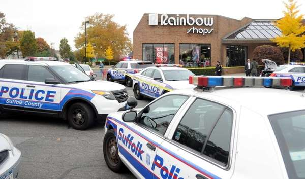 Suffolk County police converge on a Rainbow Shops