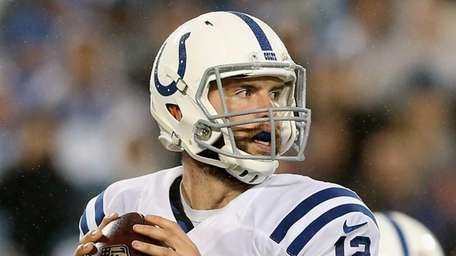 Andrew Luck #12 of the Indianapolis Colts throws