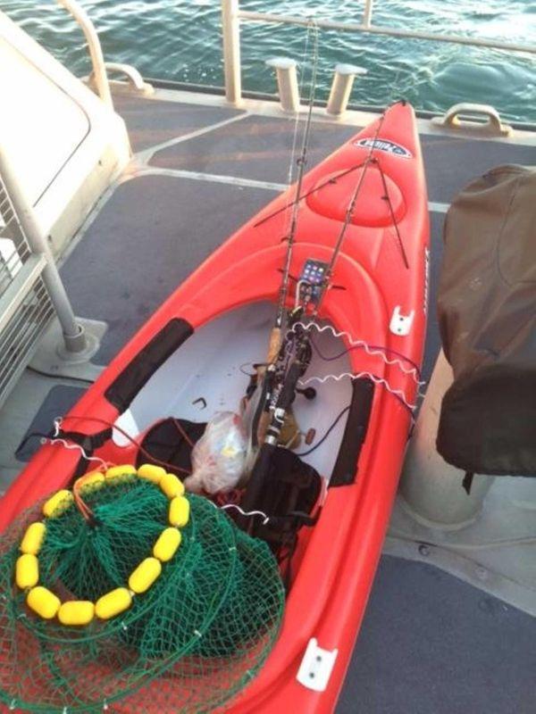A kayak was found adrift east of Plum