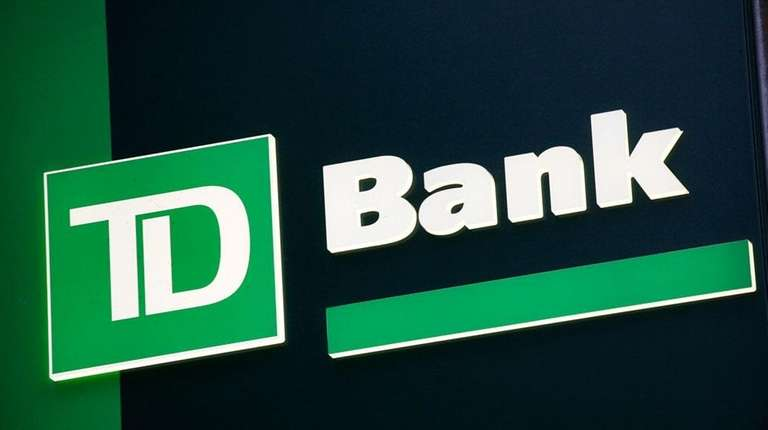 A sign for TD Bank is shown in