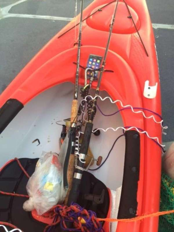 A one-person kayak was found adrift east of