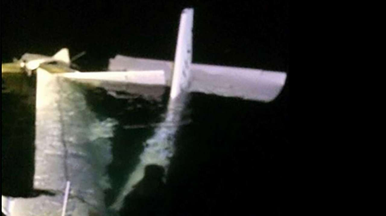 A small plane is found off the coast