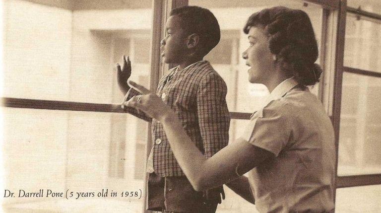 Darrell Pone as a 5-year-old boy in 1958