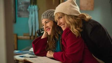 Drew Barrymore, left, and Toni Collette in