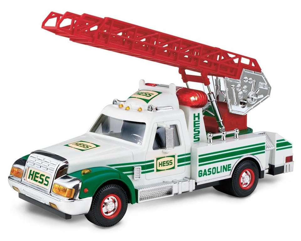 This tow-truck-style toy has three high-energy sounds: emergency