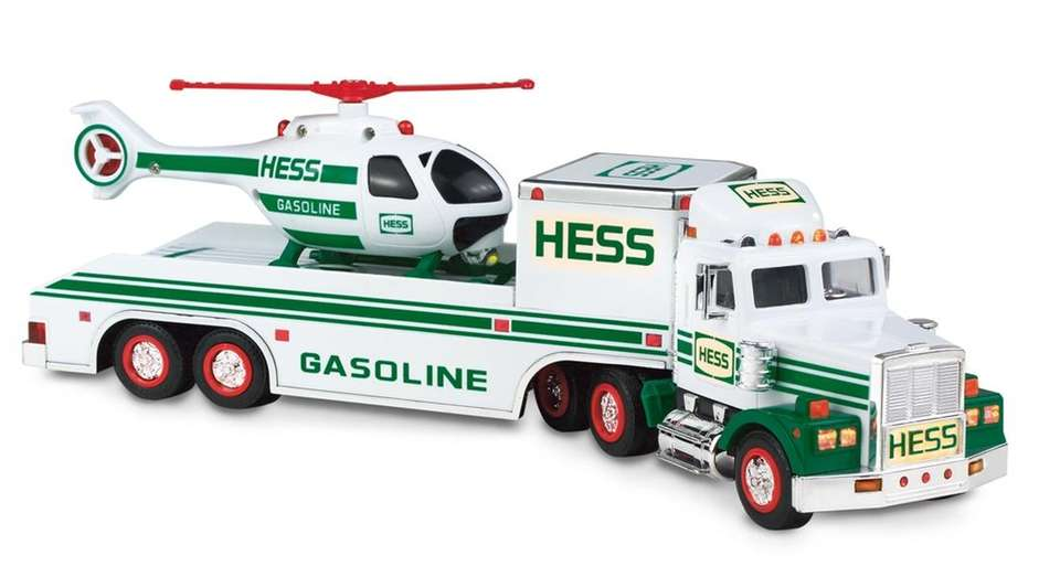 The helicopter, another first in the Hess lineup,