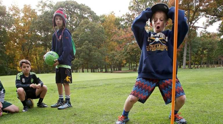 Tyler Mulligan, 11, of East Northport, plays a
