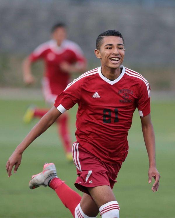 Amityville's Josue Martinez celebrates his first goal of
