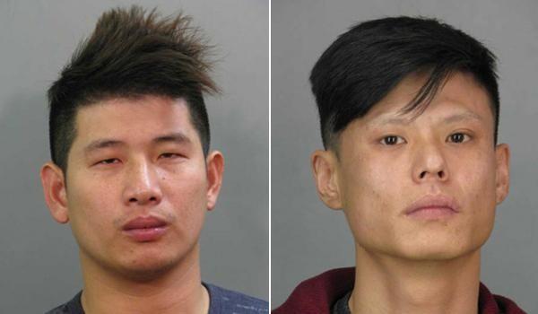 Zhaolong Wen, 25, left, and Jianhui Zhao, 30,