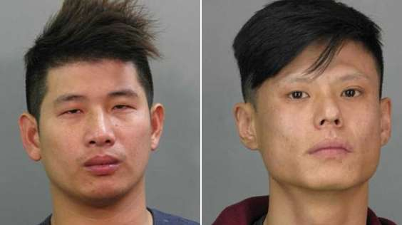 Zhaolong Wen, 25, left, and Jianhui Zhao, 30,