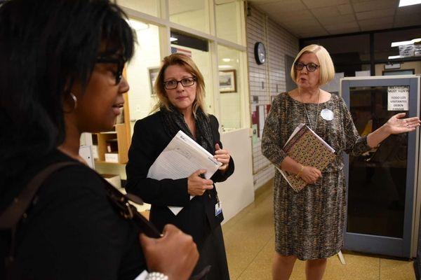 Cynthia Florio, principal of Susan E. Wiley Elementary