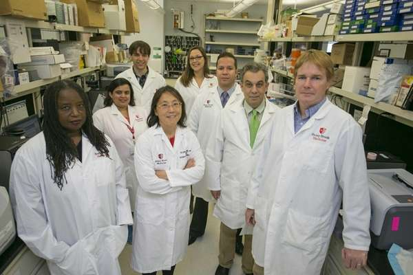 Dr. Ellen Li, center, and colleagues are investigating
