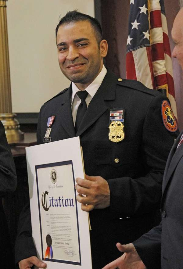 Sgt. Mohit Arora was honored by Nassau County
