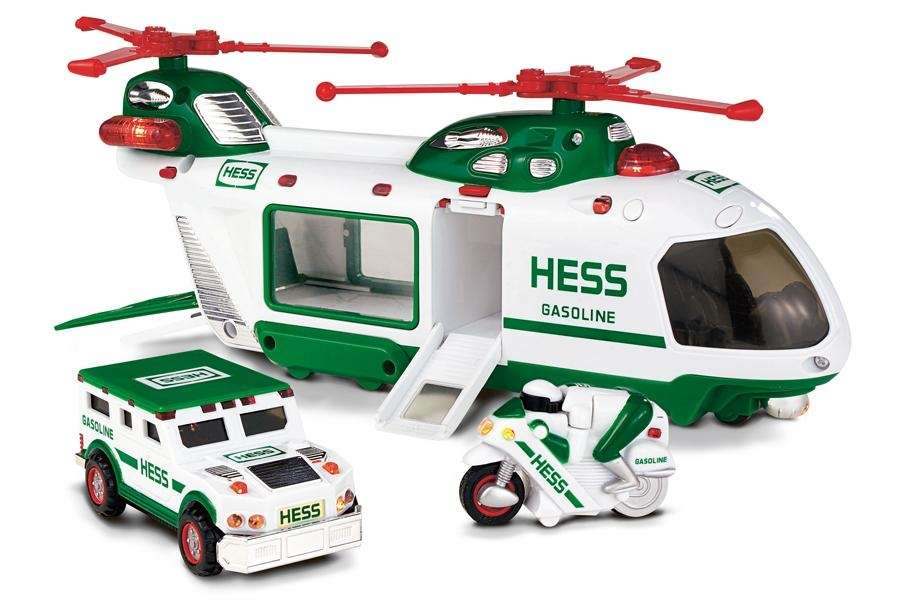 This three-toys-in-one holiday hit features interior and exterior