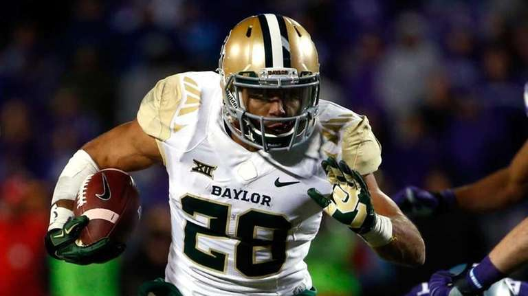 Baylor running back Devin Chafin carries the ball