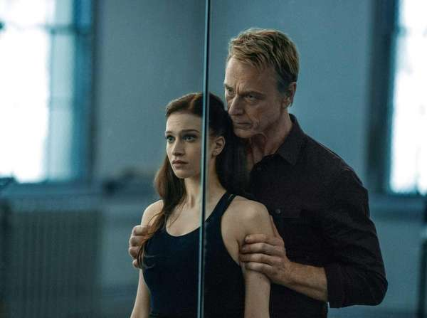 Sarah Hay, left, and Ben Daniels in a