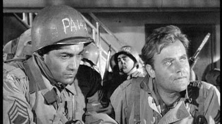 Rick Jason, left, and Vic Morrow in the