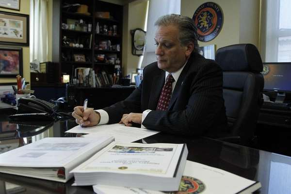 Nassau County Executive Edward Mangano on Friday, Nov.
