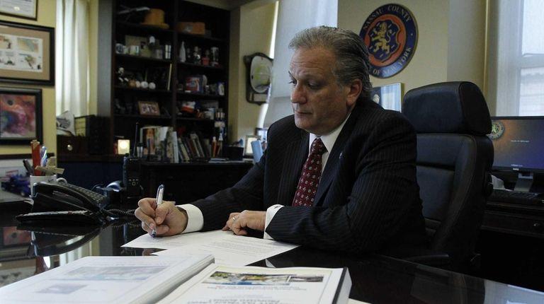 Nassau County Executive Edward Mangano on Friday, Nov.