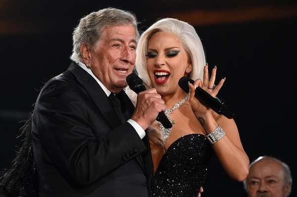 Tony Bennett and Lady Gaga perform at the