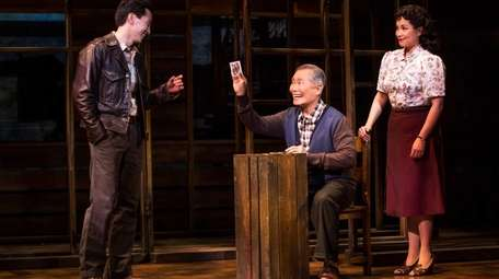 From left: Michael K. Lee, George Takei and