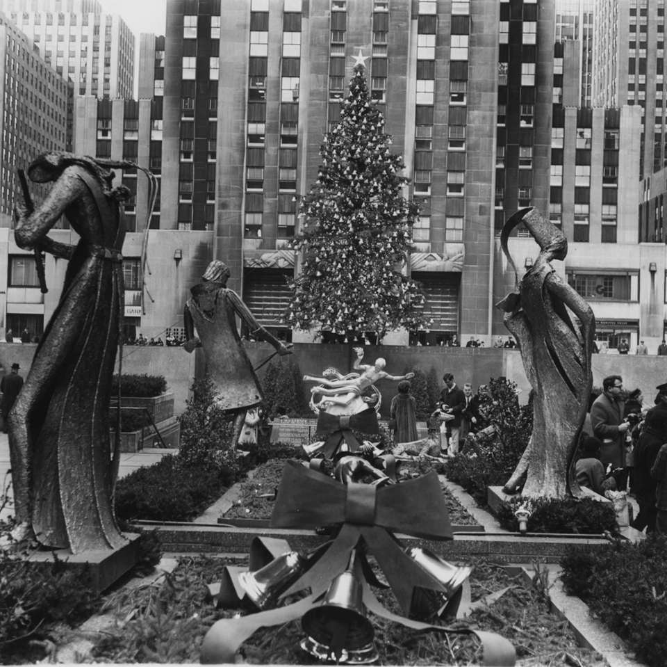 The Rockefeller Center Christmas tree seen in 1966.