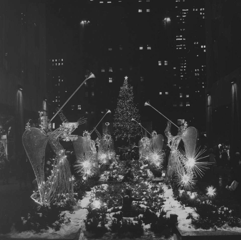 The Rockefeller Center Christmas tree seen in 1969.
