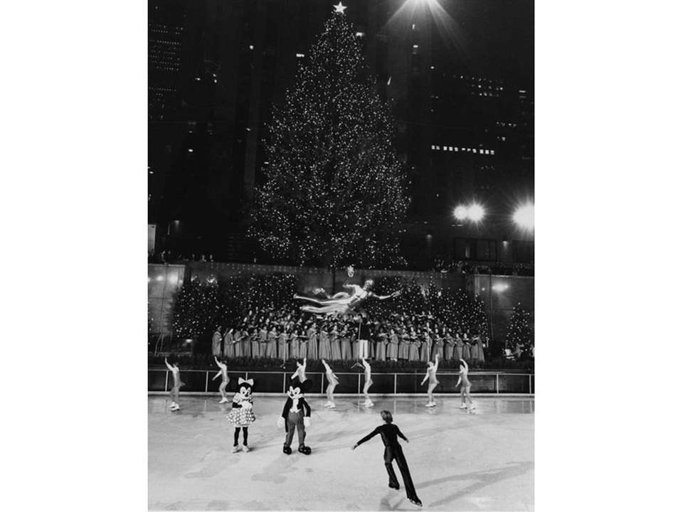 The Rockefeller Center Christmas tree seen in 1980.