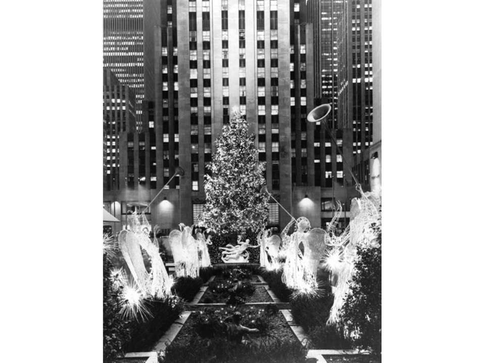 The Rockefeller Center Christmas tree seen in 1983.