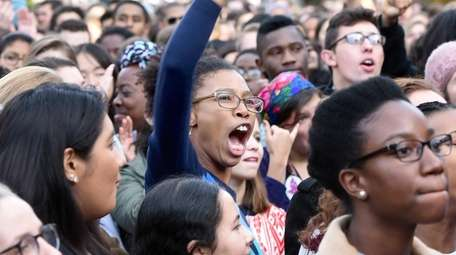 Yale University students and faculty rally to demand