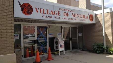 Mineola Village Hall is shown in this 2012