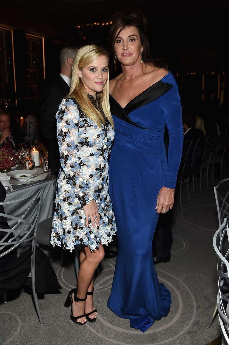 Honorees Reese Witherspoon, left, and Caitlyn Jenner attend
