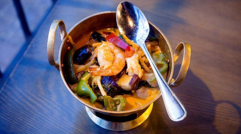 Red curry with shrimp at Tum Thai Cuisine