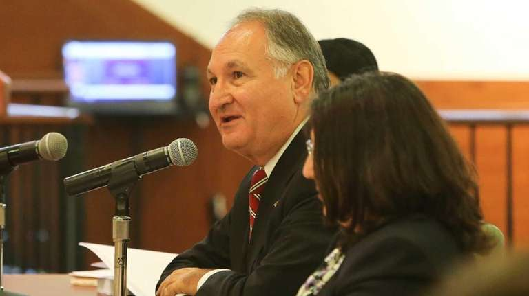 Nassau County Comptroller George Maragos addresses the Nassau