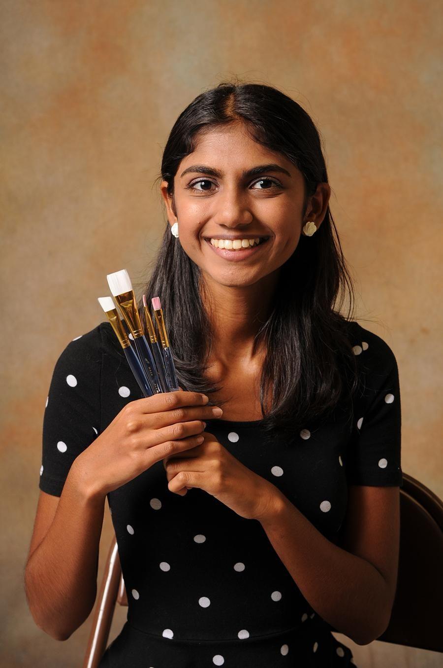 Floral Park High School's Meena Natarajan finds her