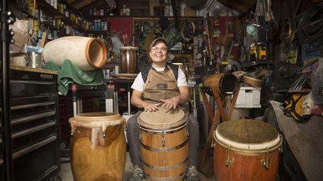 Joe Santiago turned his garage into a workshop