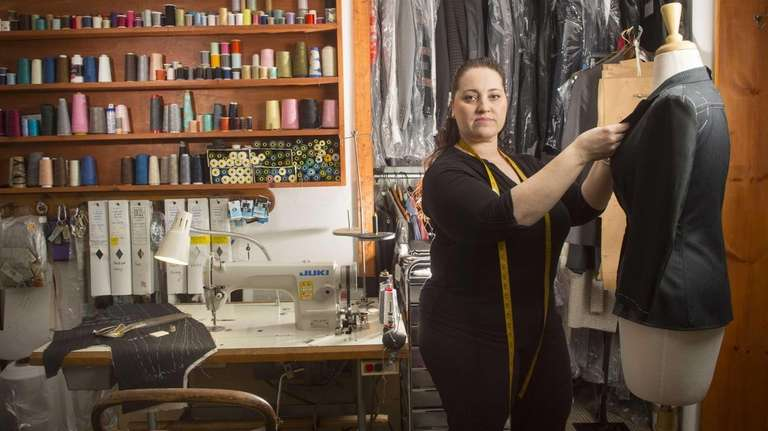 Custom tailor Michelina Montella at the family shop