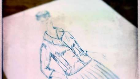 A sketch shows one of the tailored outfits