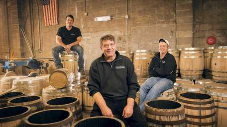 From left, East Coast Wood Barrels owner and