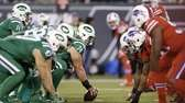 New York Jets quarterback Ryan Fitzpatrick, top left,